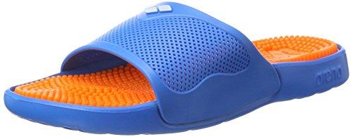 ARENA Unisex-Erwachsene Badesandale Marco X Grip Badeschuhe, Mehrfarbig (Solid_Orange,Turquoise), 36 EU
