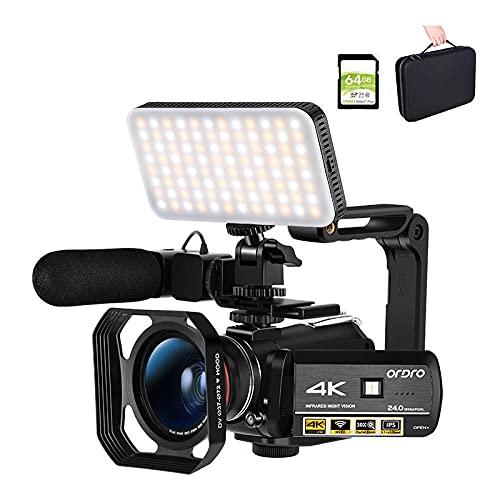 Cámara De Video 4k Camcorder Digital, HD 30mp 1080p 30fps 3.0 '' IPS Touch Screen Screen Vision Professional Full HD, Youtube Vlog Cámaras