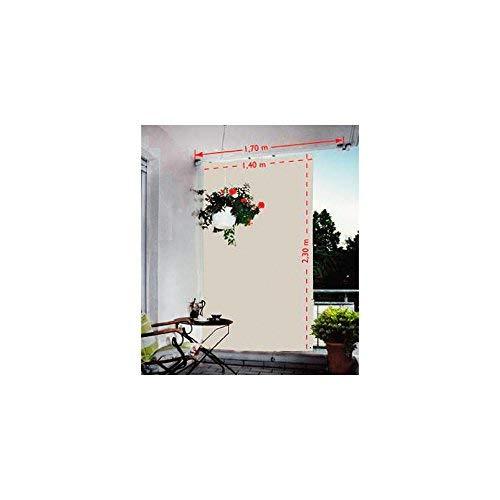 Floracord 05-77-67-00P Senkrechtsonnensegel 230 x 140 cm mit Zubehör montagefertig, silbergrau