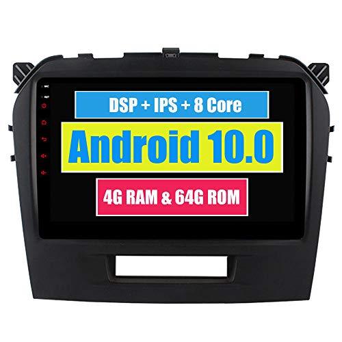 RoverOne 9 Pouces Système Android Octa Core pour Suzuki Vitara 2016 2017 Lecteur multimédia de Voiture avec autoradio stéréo Radio de Navigation GPS Bluetooth Mirror Link écran Tactile