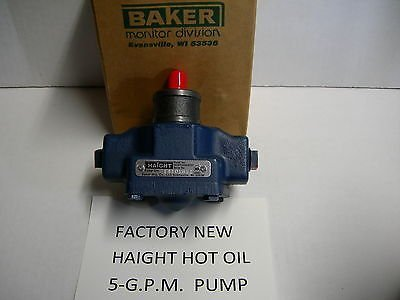 New Haight Hot Oil Pump 5-Gpm Replacement Price reduction OEM- Broaster for Fits Rapid rise