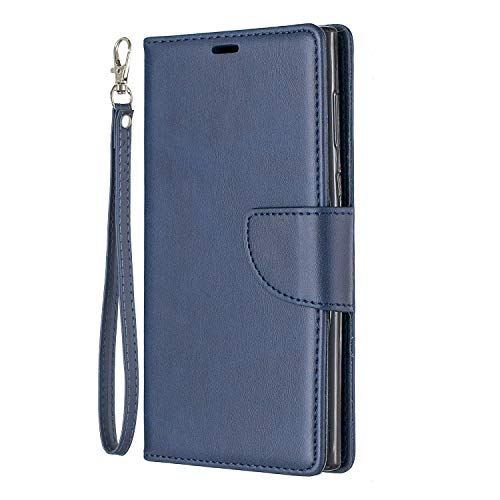 Tosim Sony Xperia L1 Hülle Leder, Klapphülle mit Kartenfach Brieftasche Lederhülle Stossfest Handyhülle Klappbar Case für Sony Xperia L1 - TOBFE150563 Blau