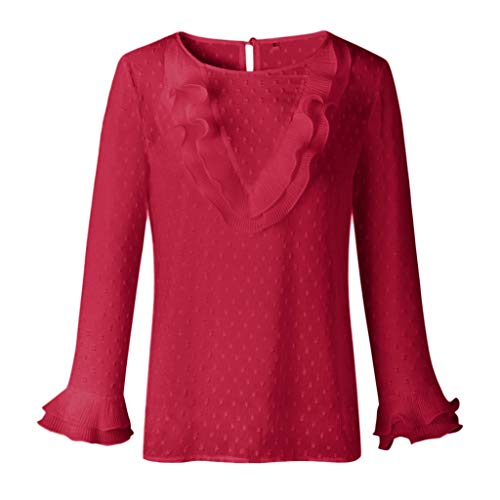Camiseta de manga larga para mujer de puntos, camiseta de manga larga para otoño e invierno, sudadera, cuello...