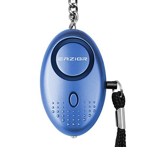 Eazior Persönlicher Alarm,140 dB Safesound Taschenalarm mit Taschenlampe Schlüsselanhänger,Security Alarm mit LED-Licht für Frauen Mädchen und ältere Menschen (Blau)