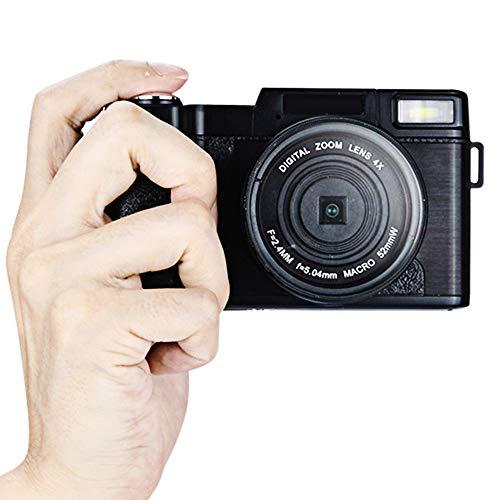 ZCFXGHH 1080P videocamera 24MP Full HD per Youtube 3.0 Pollici a 180 Gradi di Rotazione dello Schermo Flip con Retrattile Flash Light