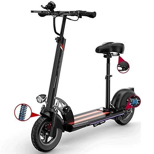 FUJGYLGL Adulto pequeño portátil Scooter eléctrico, Cuerpo de aleación de Aluminio, Plegable, de Litio con Pilas, Peso Ligero, Antideslizante Manillar