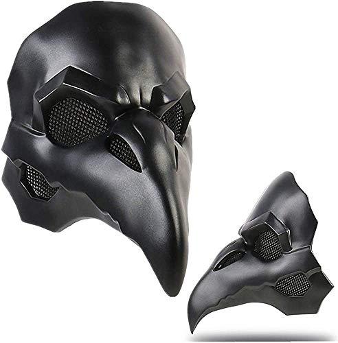 ASEDRF Reaper Adult Cosplay Maske 1: 1 Kostüm Requisiten Schwarz Doktor Ravens Helm Spiel Anime Kostüm Zubehör