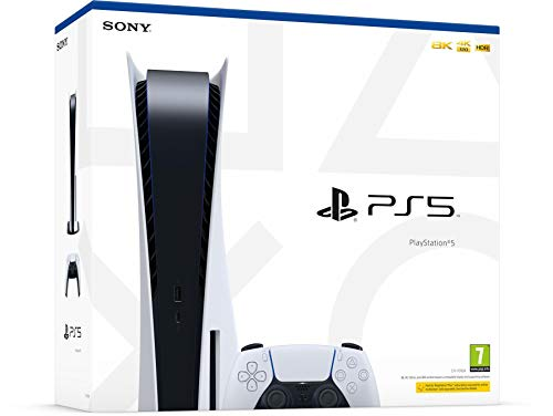Consola PS5 PlayStation 5 Sony (lector de disco Bluray) 825GB SSD, HD, 4K/8K