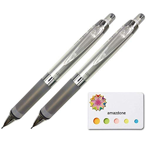 Uni Alpha Gel Kuru Toga Mechanical Pencil, Soft Grip 0.5mm, Black Body(M5858GG1P.24) set of 2 and Our Original Sticky Notes