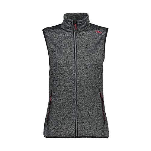 CMP Damen Knit Tech Fleece Vest, Anthracite-cement, 38 EU