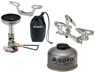 SOTO 3点セット マイクロレギュレーターストーブウィンドマスター パワーガス105トリプルミックス ゴトク ソト SOD-310 SOD-710T SOD-460