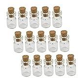 Mini botella de cristal Botellas Corked Wish bricolaje botellas en miniatura del corcho Tapones los tarros de cristal 50PCS 0,5 ml, Hogar