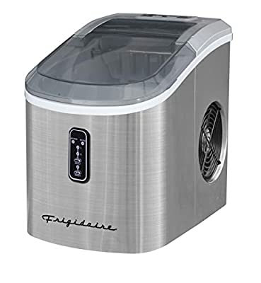 Frigidaire EFIC103 Ice Maker Machine Heavy Duty, Large Stainless Steel