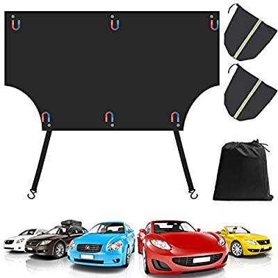 Freehawk Car Window Sunshade Cover,Car Windshield Snow Cover,Car Snow Block Cover Antifreeze, Anti-Theft, Anti-UV for Windshield Winter Car Front Window (Type2-Upgraded)