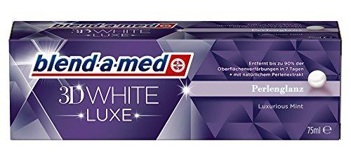 blend-a-med Zahncreme 3D White Luxe Pearl Shine Perlenglanz Zahnpasta 2er Pack (2 x 75 ml)