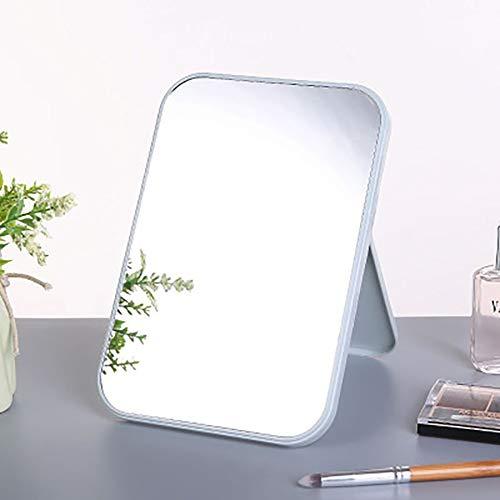 Pliant grand miroir cosmétique portable carré haute définition haute définition - bleu
