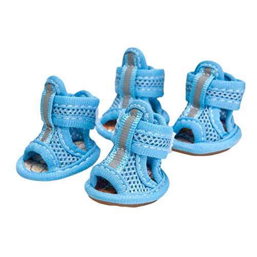 PetPhindU Dog Sandals Anti-Slip Paw Protector, Booties Mesh Shoes Paw Care Soft Sole Shoes Paw Protector for Small Dogs