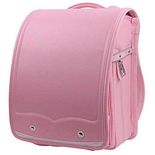 YMXLJJ Girls and Boys Automatic Japanese-style Schoolbag,Primary Schoolbags 1-3 Lower Grade Decompression Burden Children Backpack,Pink
