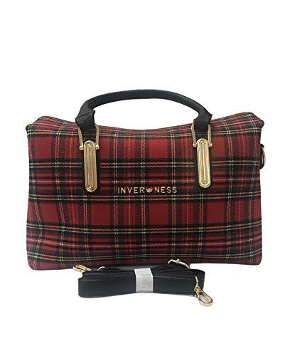 Inverness Sophia Royal Stewart Tasche mit Schottenkaro, Rot