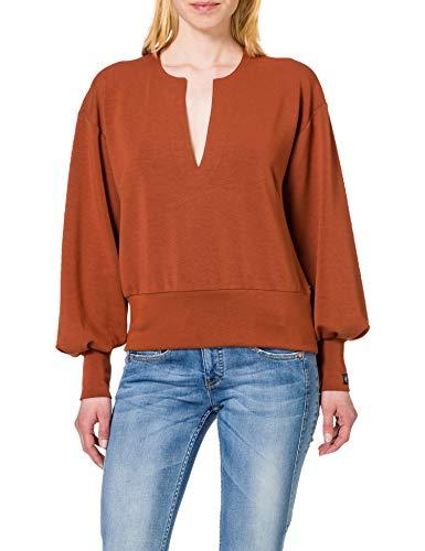 Scotch & Soda Maison Damen Weiches voluminösen Ärmeln Sweatshirt, 2042 Sienna, M