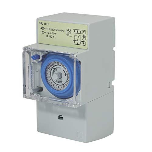 Swify Sul181H Temporizador Mecánico 24 Horas Interruptor De Tiempo Temporizador De Relé Eléctrico Programable Interruptor Temporizador De Riel Din 24 Horas