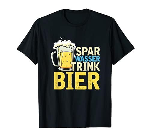 Spar Wasser Trink Bier Biergarten Fassbier Bierkrug Geschenk T-Shirt
