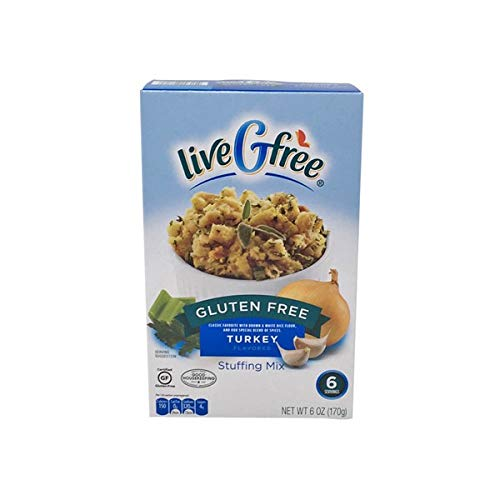 Live G Free Gluten Free Stuffing Mix, 6 Ounces (Pack of 2) (Turkey)