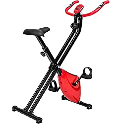 TecTake Fitness bike hometrainer foldable with computer
