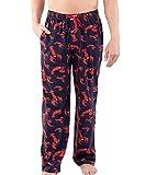 Lazy One Animal Pajama Pants for Men, Men's Separate Bottoms, Lounge Pants, Ocean, Sea (Lobster, X-Large)