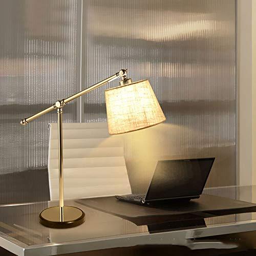 Lámpara inteligente Lámpara Nordic Simple Lino Pantallo de tela de lino de acero inoxidable Lámpara de mesa Lámpara de noche Iluminación de la lámpara Iluminando la lámpara de la sala de estar