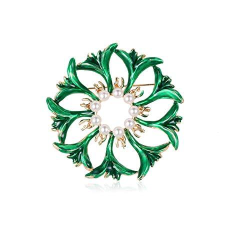 Parel bloem broches voor vrouwen groene kleur slinger bruiloft boeket DIY broche sierparel broche