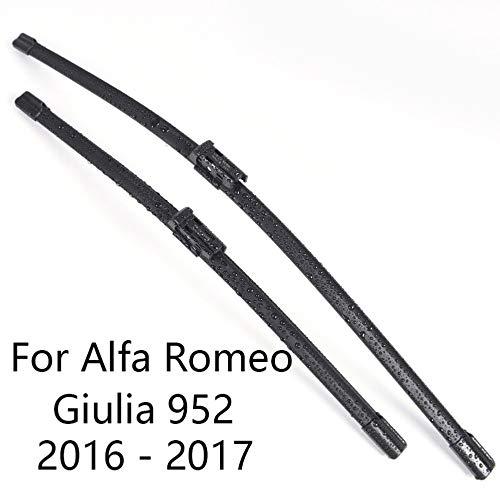 LSJVFK Limpiaparabrisas de Coche, limpiaparabrisas de Goma para Coche, para Alfa Romeo Giulia 952 Forma 2016 2017