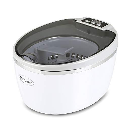 MVPower Ultraschallreiniger Reinigungsgerät 750ml Digital Ultrasonic Cleaner Reiniger Edelstahl Ultraschallbad mit Uhrenhalter und Reinigungskorb 43000Hz 50W für Brillen Schmuck Uhren