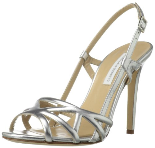 Diane von Furstenberg Women's Upton Dress Sandal,Silver,9 M US
