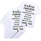 200 Pieces T-Shirt Washing Instructions Cards Shirt Care Instructions Cards T-shirt Cleaning Care Card Customer Direction Cards Insert for Small Business Online Shop, 3.5 x 3.5 Inch (White)