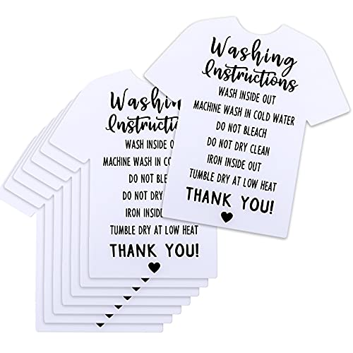 200 Pieces T-Shirt Washing Instructions Cards...