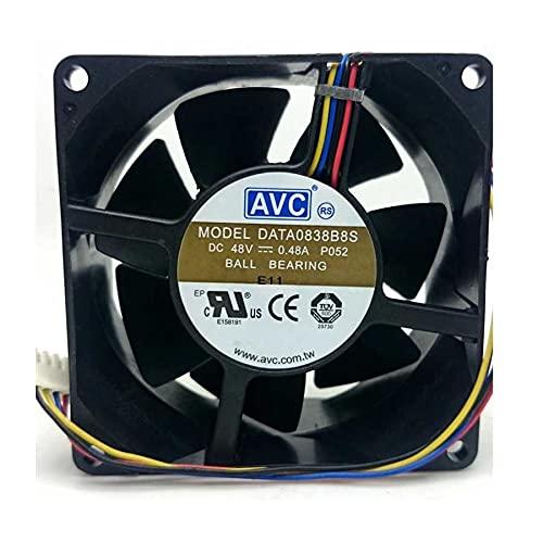 AVC DATA0838B8S 8038 80x80x38mm DC 48V 0.48A 4-Pin sever axial cooling fan