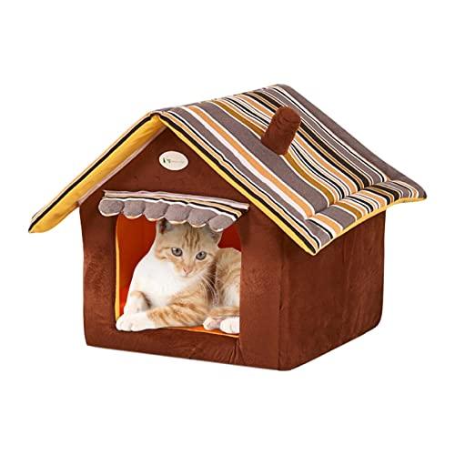 Nedyet Caseta para gatos, impermeable, para mascotas, para exteriores, para gatos, plegable, para animales (S - L)