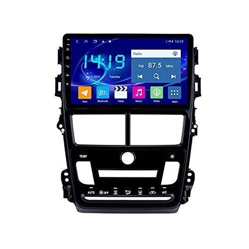 W-bgzsj Coche estéreo Android 8 Double 2 DIN 9 Pulgadas Sat Nav para Toyota VIOS Yaris Cabeza AUTOMÁTICA 2018 Unidad de Cabeza con navegación GPS Bluetooth WiFi SWC (Color : 8 Cores 4G+WiFi:4+64G)