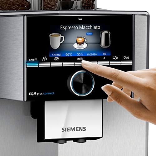Siemens TI9575X1DE EQ.9 s700 plus connect Kaffeevollautomat (1500 Watt, vollautomatische Dampfreinigung, Baristamodus, Home Connect, sehr leise, iAroma) edelstahl - 4