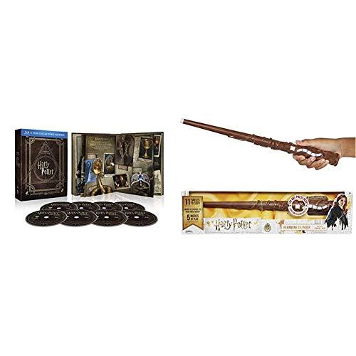 Harry Potter Magical Collection (8 Blu Ray) - Cofanetto, Edizione Digibook (32 pagine) + Jakks Pacific-73210 Feature Wizard Wands Harry Potter-Bacchetta Magica interattiva di Hermione, 73210