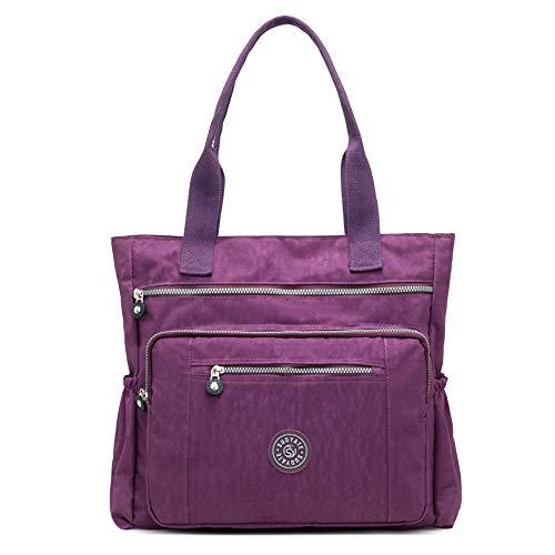 Coolives Vintage Bolso de mano de hombro Casual para Mujer Púrpura