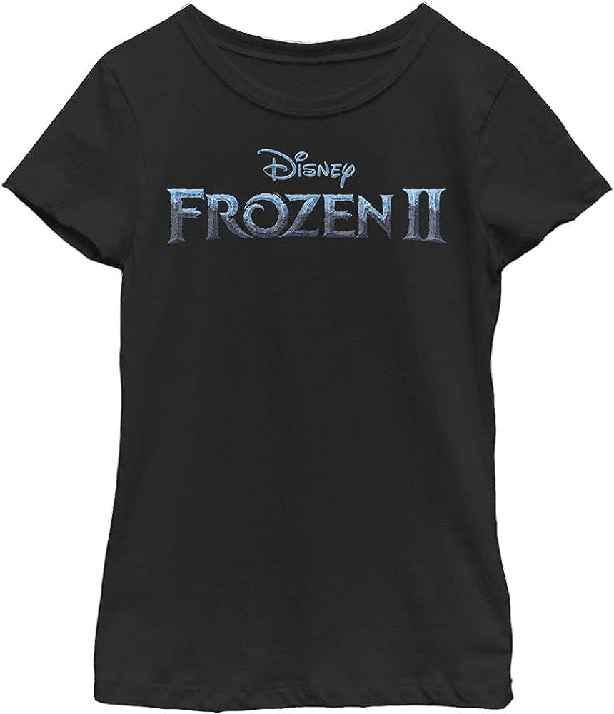 Disney Frozen 2 Logo Girl's Solid Crew Tee