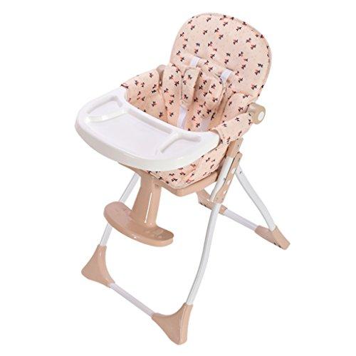 Baby-eetkamerstoel Kinderstoel Kinderzitje Kinderdinette Multifunctionele draagbare opvouwbare gratis installatie kinderstoel (stuur het wiel)
