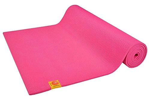 Chin Mudra Tapis de Yoga Non Toxiques - 183cm x 61cm x 4.5mm - Rose Indien