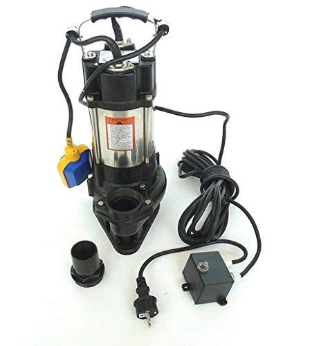 !! Profi !! Fäkalienpumpe Schmutzwasserpumpe V550 mit Schneidwerk + Schaufelräder aus Edelstahl, Leistung 550Watt, Spannung 230V/50Hz, Fördermenge: 12000l/h + Überspannungsschutz + Trockenlaufschutz.