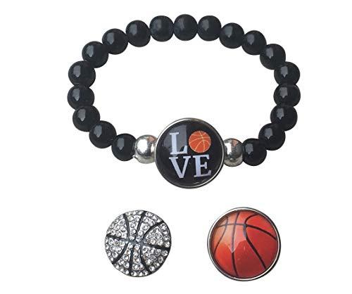 Beaded Basketball Bracelet