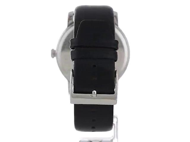 Kenneth Cole New York Men's Quartz Stainless Steel Case Leather Strap Black Casual, (Model:KC15114005)