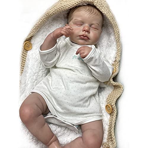 SPFTOY Bambole Reborn Originali 19 Pollici 47 Cm in Silicone Morbido Vinile Bambole Reborn Bambole Che Sembrano Vere Realistico Bambola Giocattolo per Bambini