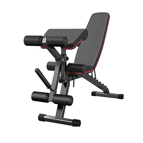 Multi-Purpose Folding Fitness Bench,Adjustable Weight Bench,Incline Flat Decline Dumbbell Bench,Leg Extension Roman Chair,Workout Fitness Equipment